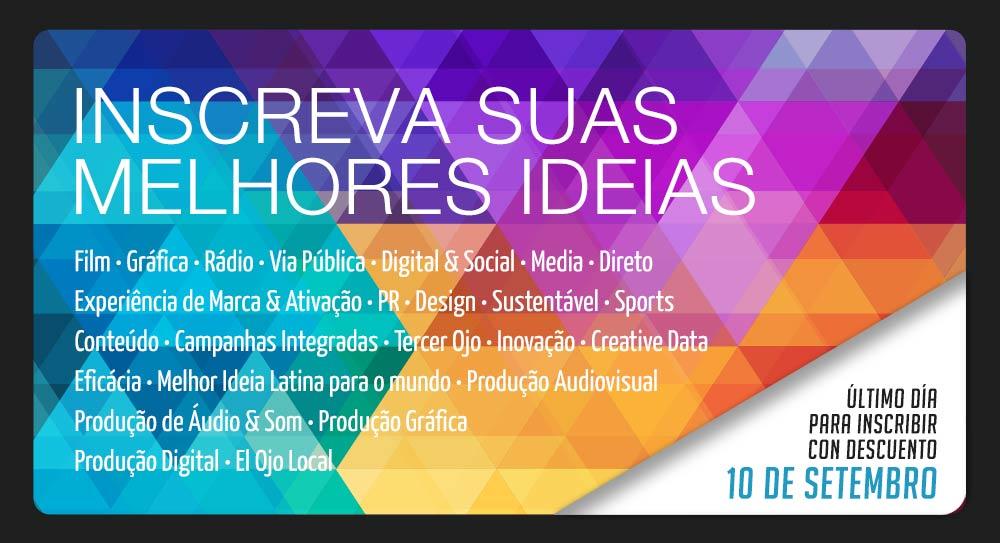 4633bbbaea99 O festival que festeja o melhor da criatividade ibero-americana está cada  dia mais perto. Para que ninguém fique fora dos prêmios mais importantes da  região ...